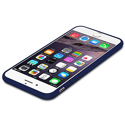 Cadorabo - Ultra Slim TPU Candy Etui Housse Gel (silicone) pour Apple iPhone 6 / 6S - Coque Case Cover Bumper en CANDY-BLEU-FONCÉ CANDY-BLEU-FONCÉ