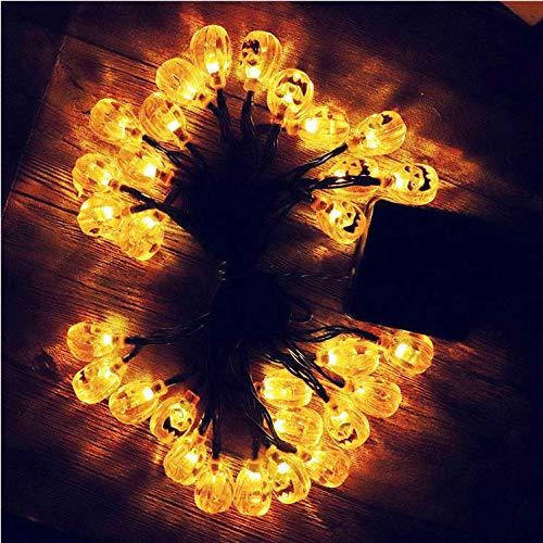 Lichter liefert Requisiten Szene Bar Licht 50LED Kürbis Lampe Schädel Kopf Lichterkette ()