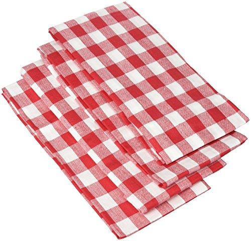Ladelle 4225619-1/2x 19-1/5,1cm Gingham Rot Serviette (4Pack) 4pk Servietten