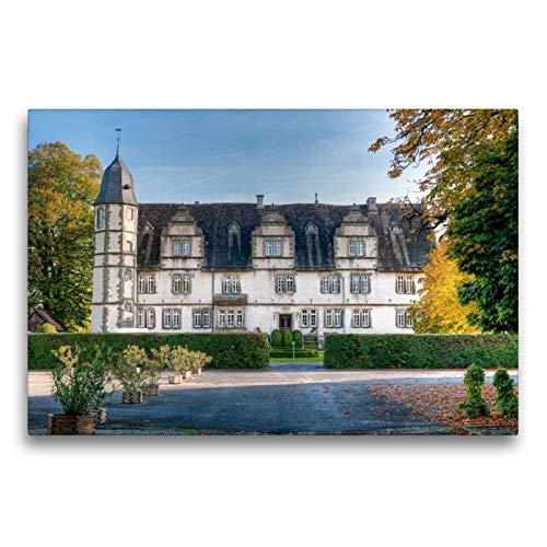 Calvendo Premium Textil-Leinwand 75 cm x 50 cm quer, Schloss Wendlinghausen   Wandbild, Bild auf Keilrahmen, Fertigbild auf echter Leinwand, Leinwanddruck Orte Orte
