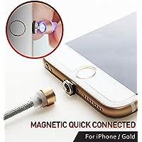 Reddot magnetico Lightning ricarica cavo Circle connettore in nylon intrecciato 1.1m (1,1m) ad alta velocità 2.1A [no sincronizzazione dati] illuminazione LED per iPhone iPad Androidphone