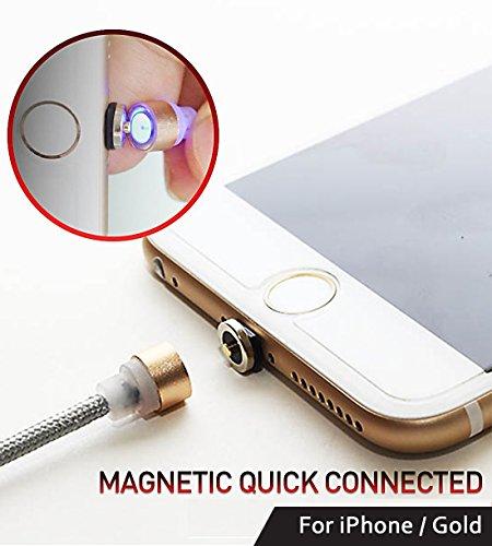 Reddot magnetico Lightning ricarica cavo Circle connettore in nylon intrecciato
