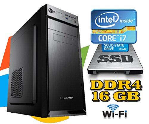 PC DESKTOP FISSO Intel i7-7700 / RAM 16GB DDR4 / SSD 480GB + HD 1TB / wi-fi/MASTERIZZATORE LG/LICENZA WINDOWS 10 INCLUSA