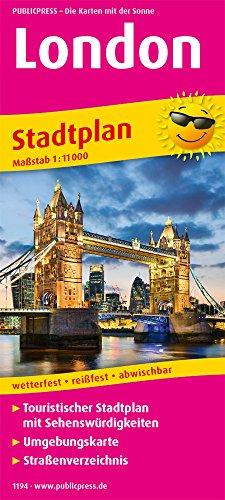 London: Touristischer Stadtplan mit Sehenswürdigkeiten und Straßenverzeichnis. 1:11.000 (Stadtplan / SP)