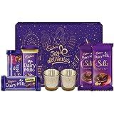 Cadbury Assorted Chocolates Gift Pack, 275g - with Glass Diyas Inside