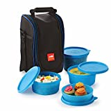 #6: Cello Max Fresh Super Polypropylene Lunch Box Set, 4-Pieces, Blue