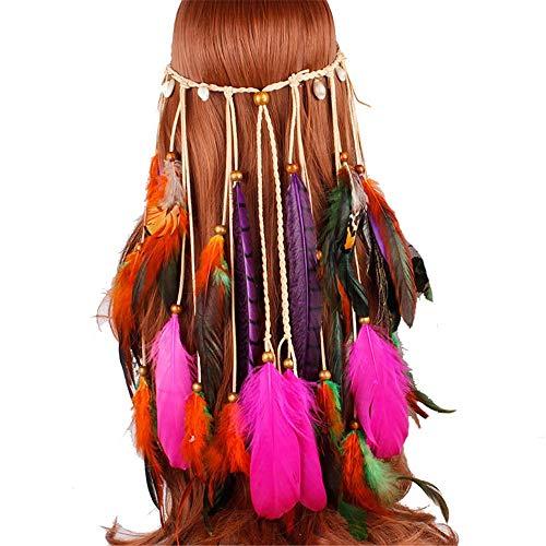 Böhmische Pfauenfeder Haarband Quaste Haar Accessary ()