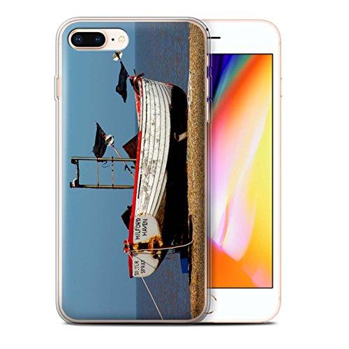 Stuff4 Gel TPU Hülle / Case für Apple iPhone 8 Plus / Altes Boot Muster / Britischen Küste Kollektion Rostigen Boot