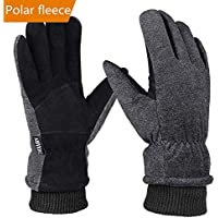 Winter Gloves Men Women Waterproof, OKELAY Unisex Thermal Gloves Touch Screen, Cycling Gloves Warm Hands for Outdoor Motorcycling Walking Skiing Running (Small, Medium, Large, X-Large)