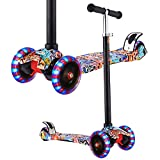OUTCAMER Fashion Kids Scooter Adjustable Height Mini Children Kick Scooter with 3 LED