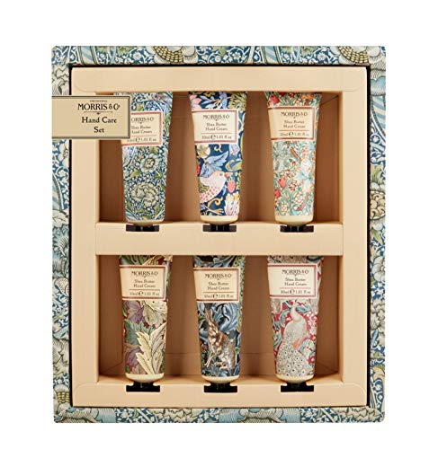 Morris & Co Bibliothek von Prints Hand Care Set 6x 30ml Hand Creme (Shea-butter Und Grünem Tee)