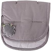 Saco universal para cochecito de bebé color gris con lunares blancos de la firma Minene.