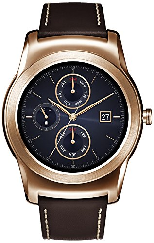 lg watch urbane smartwach, display p-oled 1.3'', android wear, oro [italia]