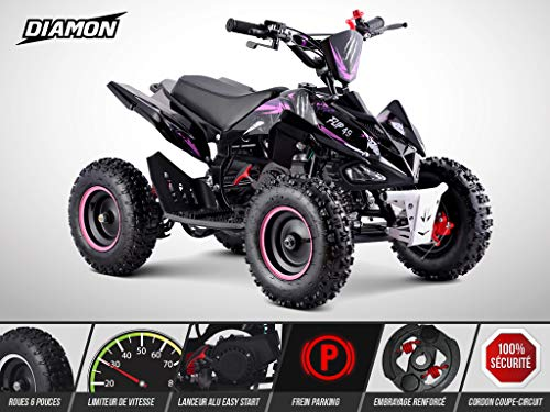 Pocket Quad Flip 49 - Mini Quad Enfant 50cc - DIAMON - Limited Edition 2020 - Rose