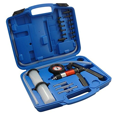 1000 Vakuum (RS 1000 Vakuum Bremsenentlüfter Vakuumtester Set 22 TLG. Unterdruck Druck Testgerät Druck Vakuumpumpe)