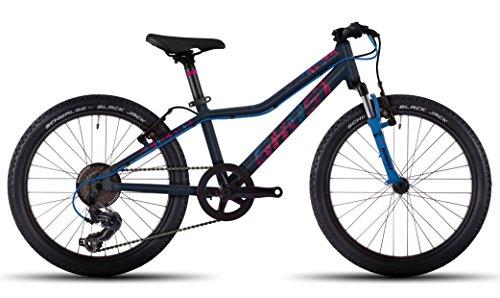 Ghost Lanao Kid 2 AL 20R Kinder Mountain Bike 2017 (night blue/riot blue/fuchsia pink, One Size)