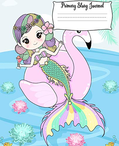 Primary Story Journal: Princess Mermaid Grade Level K-2 Draw and Write, Dotted Midline Creative Picture Notebook Early Childhood to Kindergarten (Fantasy Mermaid Art ) For Girl
