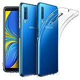 EasyAcc Coque pour Samsung Galaxy A7 2018, Etui Transparent Antidérapant Compatible avec Samsung Galaxy A7 2018 Protection Dorsale Étui Slim Invisible Housse Cover Case en TPU Gel