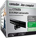 Rameder Attelage rotule démontable pour CITROËN BERLINGO Camionnette + Faisceau 13...
