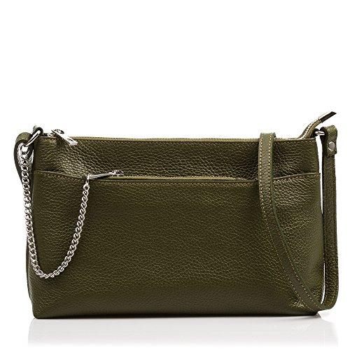 FIRENZE ARTEGIANI. Damen-Handtasche aus echtem Leder. Tasche aus echtem Rindsleder. Umhäng Preisvergleich