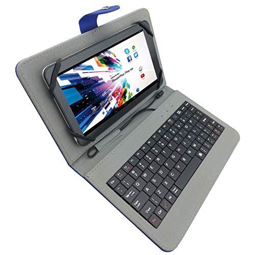 """custodie tablet 7 pollici universale Mediacom M-CASEK7B Custodia Protettiva Universale con Tastiera Qwerty USB incorporata per Tablet 7"""""""