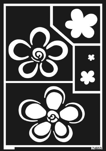 Home Design 74853 - Window Style Schablone Blumen A5