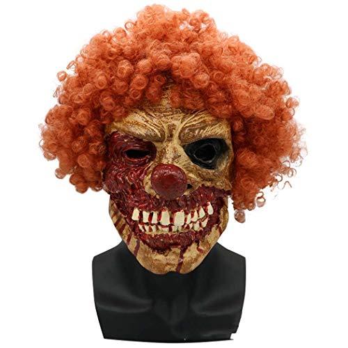 n Grimace Zombie-Maske Zu Fuß Tot Latex Böse Maske,Photocolor,Onesize ()