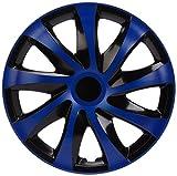 NRM KO252 Radzierblende Draco CS, Schwarz/Blau, 16 Zoll, 4er Set