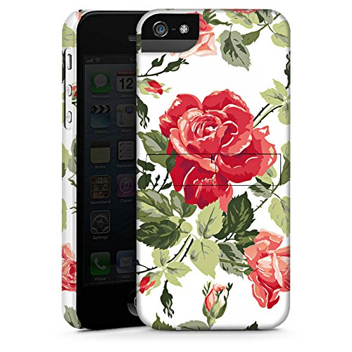 Apple iPhone X Silikon Hülle Case Schutzhülle Rosen Frühling Blüten Premium Case StandUp
