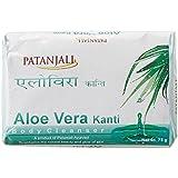 Patanjali Kanti Aloe Vera Body Cleanser Soap, 75g PACK OF 4