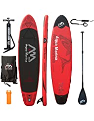 AQUA MARINA Monster SUP inflatable Stand Up Paddle Surfboard Modell 2016 Board+CarbonPaddle+Leash