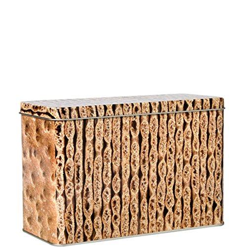 BUTLERS Crunch Knäckebrot-Dose im Knäckebrot-Design - Weißblech - braun - 21 x 14 x9
