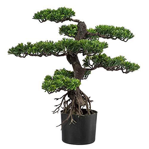Kunstpflanze Bonsai Zeder grün, im Kunststofftopf, ca. 65 cm