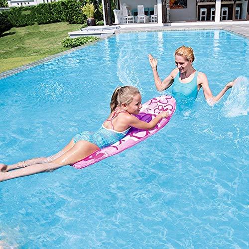 CGMZN Schwimmring 1,14 mt Aufblasbare Surfer Junge Mädchen Surfbrett Schwimmen Spielzeug Kick Board Pool Kinder Matratze Schwimmbad Float Wasser Spaß Floß, Blau