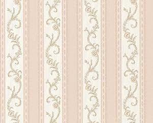 A.S. Creation 649645 Chateau Tapisserie vinyle Crème/rose/orange