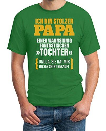 Geschenk für Vater - Ich Bin Stolzer Papa Einer Fantastischen Tochter T-Shirt Grün