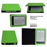 Grünes Stand Case für Sony PRS-T2 von Spartechnik - bestes Case Hülle Etui Tasche für Sony E-Book Reader Elektronisches Buch PRS T2 mit integriertem Ständer und Fach für Stift - grün