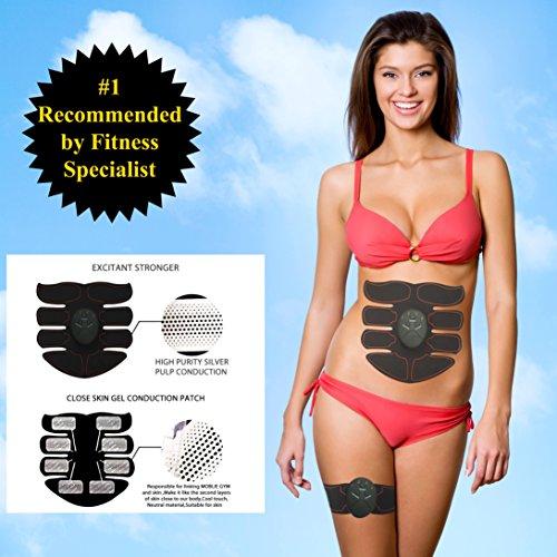 TANAINA Electroestimulador de Abdominales Masageador de Músculos 3*Aparato de la aptitud Anfitrión + 3* Almohadilla de gel + 1*Package Box + 1*Manual de instrucciones.