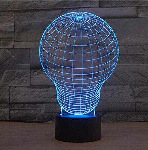 CGN 3D kleine Tischlampe, kreative Led Heißluft Ballon Tisch Lampe Sieben Farbe Touch Visuelle Lichter Hochzeit USB Insert Valentinstag Tischlampe Touch Switch Hell ( größe : 238*150*87mm )
