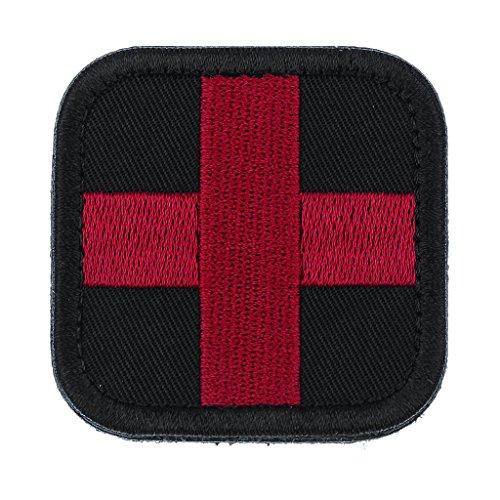 Sharplace Outdoor im Freien Erste Hilfe Rotes Kreuz Patch Erste-Hilfe Beutel Rucksack Aufkleber Abzeichen - Schwarz (Patch Abzeichen Uniform)