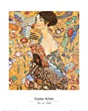 Gustav Klimt - Frau Mit Fächer II Poster Kunstdruck (50 x 40cm)