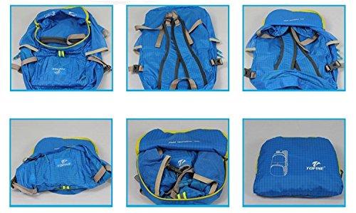 Grande 30L Leggera Pacchettoable A Portata Di Mano Resistente All'Acqua Viaggio Zaini Blu Blu