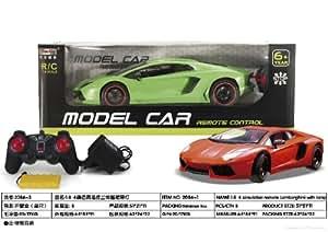 Tian Du Lamborghini Model Car 1:8 (Approx17Inches) With Rechargeable Batteries (Dark Orange)