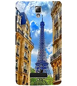 PrintDhaba EFFIEL TOWER D-6501 Back Case Cover for LENOVO A2010 (Multi-Coloured)
