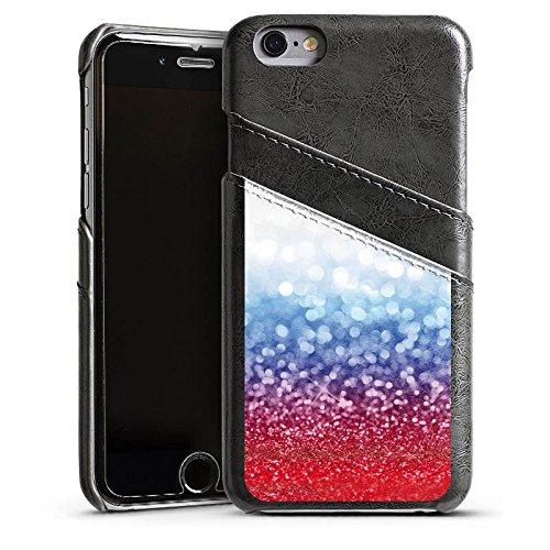 Apple iPhone 5s Housse Étui Protection Coque Russian Glitter Paillettes Drapeau Étui en cuir gris