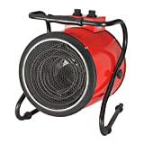 KUNCC Calentadores Industriales De 3KW Calentador Comercial/Soplador De Aire Caliente/Secador, Baño para El Hogar, Dirección De Calentamiento Ajustable