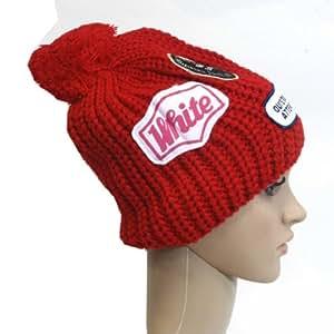 Etina - stylische Patch Mütze mit BOMMEL Woll-Look mit drei collen Patch bestickt Warm UNISEX Winter Winterbekleidung Ski Mütze