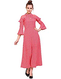 FRANCLO Women's Butterfly sleeve Maxi dress (Best fit 32-34 bust)