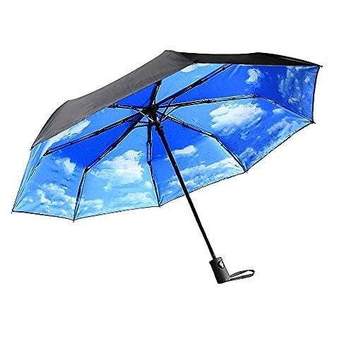Parapluies Innoo Tech avec protection anti-UV idéal pour les jours ensoleillés ou pluvieux   Parapluie de voyage avec ouverture et fermeture automatique   Parapluie compact pour homme et