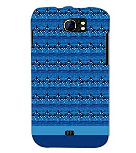 PrintDhaba Dolphin Pattern D-1854 Back Case Cover for MICROMAX A110 CANVAS 2 (Multi-Coloured)